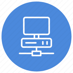 central unity, computer, connected, monitor, network, pc, technology icon
