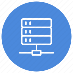connected, connection, network, server, servers, storage, technology icon