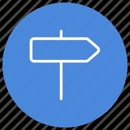 direction, indicator, location, navigation, orientation, pointer, sign icon