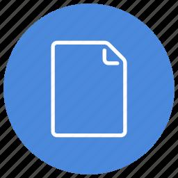 create, document, file, new, paper, portrait, sheet icon