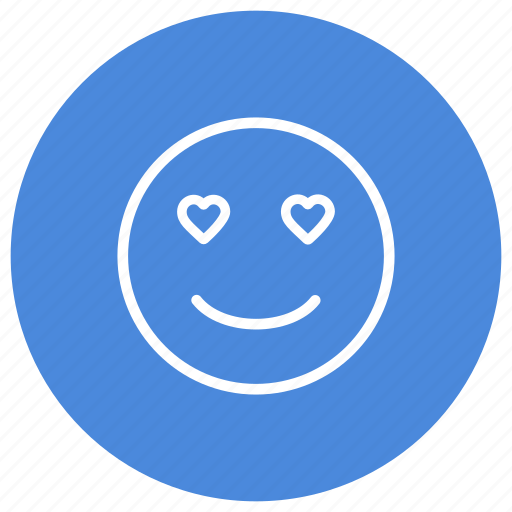 emoji, emoticon, emotion, feeling, hearts, love, smiley icon