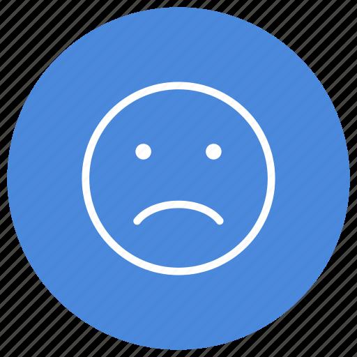 emoji, emoticon, emotion, expression, feeling, sad, smiley icon