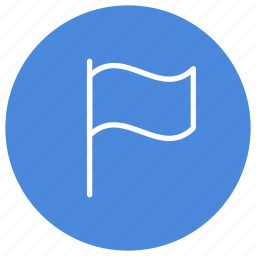 flag, important, location, marker, pin, rally icon