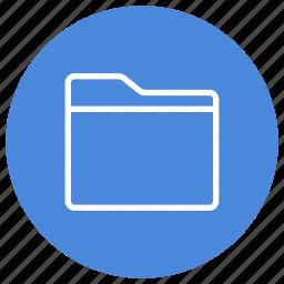 create, empty, folder, horizontal, new icon