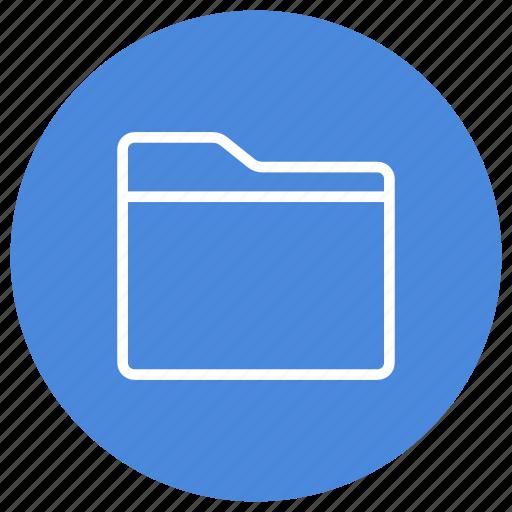 Folder, new, horizontal, create, empty icon