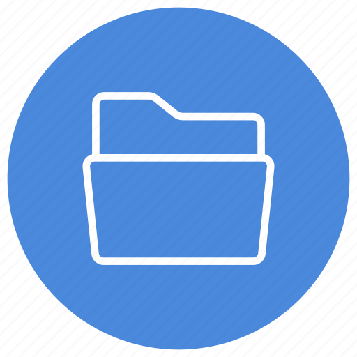 create, empty, folder, horizontal, new, open icon