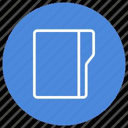 create, empty, folder, new, vertical icon