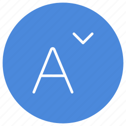 decrease, font, letter, resize, size, text icon