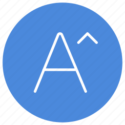 font, increase, letter, size, text icon