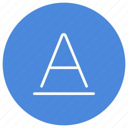 font, letter, mode, style, text, underline icon