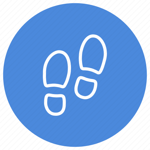 direction, find, footsteps, navigation, path, route, steps icon