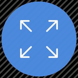 activate, expand, full, fullscreen, maximize, mode, screen icon