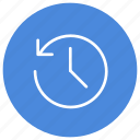 historic, history, hour, previous, previously, time icon