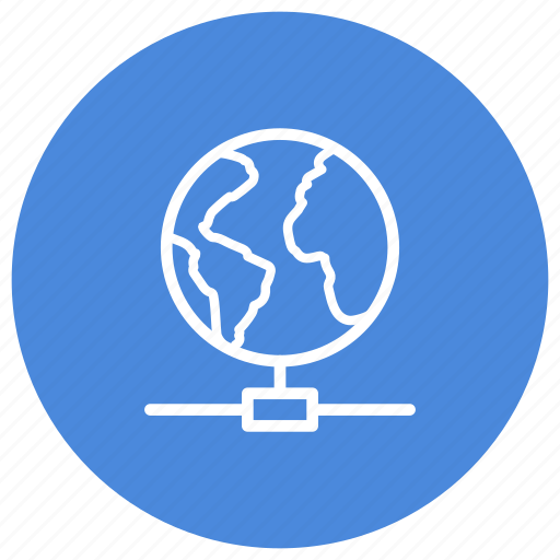 communication, connected, connection, earth, internet, planet icon
