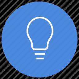 bulb, creative, electricity, energy, idea, light, power icon