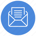 mail, message, open, read, text icon