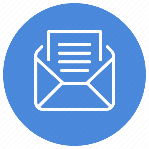 envelope, letter, mail, message, open, read, text icon