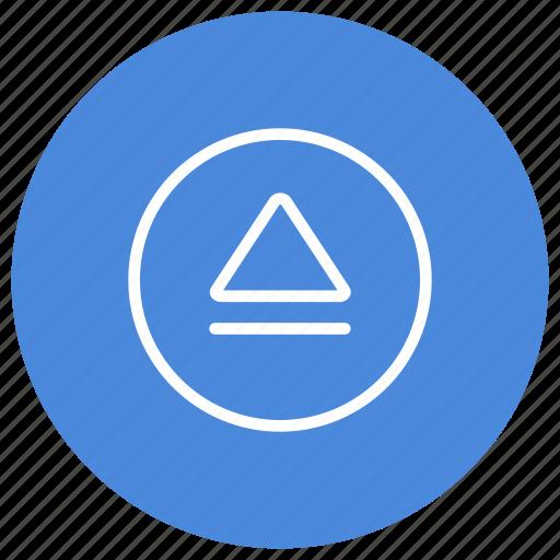blu-ray, disk, eject, film, media, movie, multimedia icon