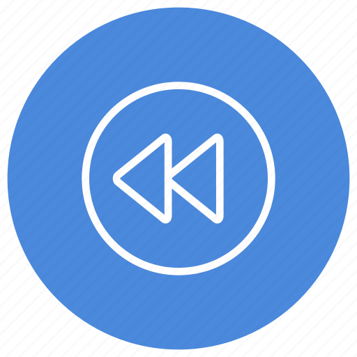 backward, media, movie, multimedia, play, song, video icon