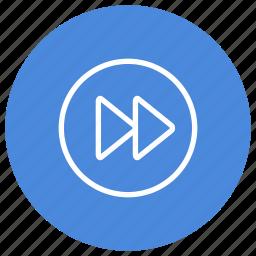 forward, media, movie, multimedia, play, song, video icon
