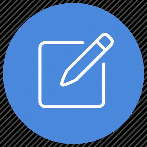 note, pen, pencil, post it, post-it, write icon