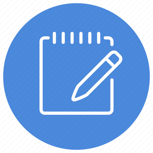 note, notepad, pen, pencil, write, writing icon