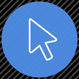 arrow, click, computer, monitor, mouse, pointer, screen icon