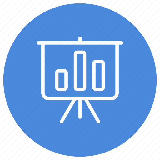 analysis, blackboard, charts, graphics, presentation, stats, summary icon