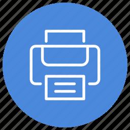 device, document, file, hardware, presentation, print, printer icon
