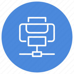 connected, connection, device, hardware, network, printer, wireless icon