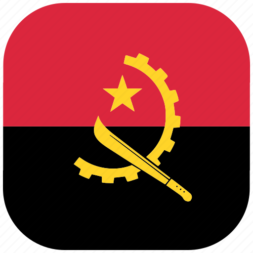 Angola, country, flag, national, rounded, square icon - Download on Iconfinder