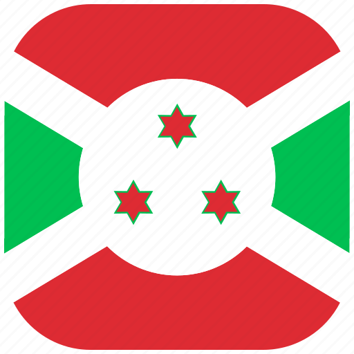 burundi, country, flag, national, rounded, square icon