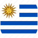 country, flag, national, rounded, square, uruguay