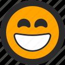 emoji, expressions, happy, joy, roundettes, smiley, smiling icon