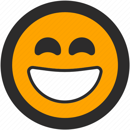 emoji, expressions, happy, joy, roundettes, smiley, smiling icon