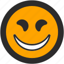 devious, emoji, expressions, happy, roundettes, smiley, smiling icon