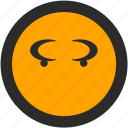 angry, emoji, expressions, roundettes, smiley icon