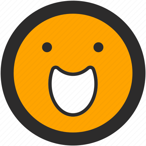 emoji, expressions, happy, joy, roundettes, smiley icon