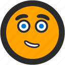 confident, emoji, expressions, happy, roundettes, smiley icon