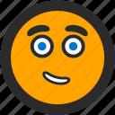 confident, emoji, expressions, happy, roundettes, smiley icon