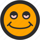 emoji, expressions, happy, mellow, roundettes, smiley, stoned icon