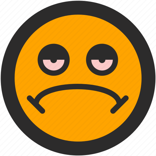 emoji, expressions, mellow, roundettes, sad, smiley, stone icon