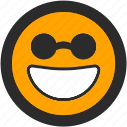 blind, daredevil, emoji, expressions, happy, roundettes, smiley icon