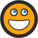 emoji, expressions, happy, roundettes, smiley, smiling icon