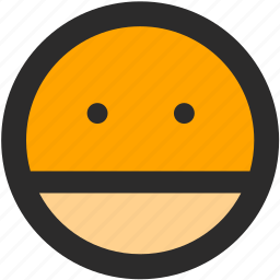 canadian, emoji, expressions, roundettes, serious, smiley icon