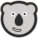 bear, emoji, expressions, happy, koala, roundettes, smiley icon