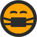 chinstrap, doctor, emoji, expressions, nurse, roundettes, smiley icon