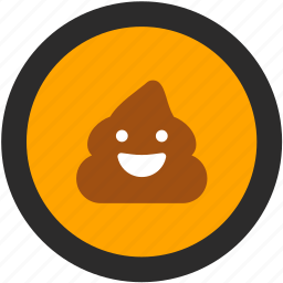 emoji, expressions, poop, roundettes, smiley icon