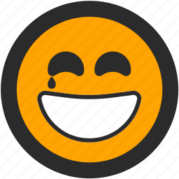 emoji, expressions, happy, roundettes, smiley, smiling, tear icon