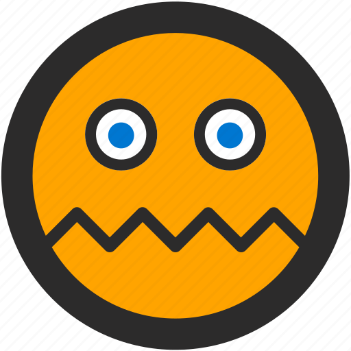 cracked, emoji, expressions, roundettes, smiley, worried icon